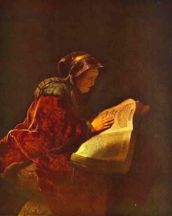 렘블란트는 어머니를 모델로 '책을 읽고 있는 노파'를 그렸습니다