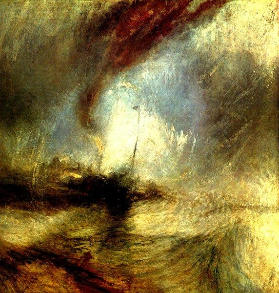 터너(Turner)는 눈보라 속의 증기선를 그렸습니니다