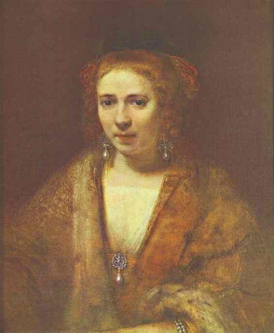 렘브란트의 인생 후반의 동반자는 '핸드리키에'이었습니다.
