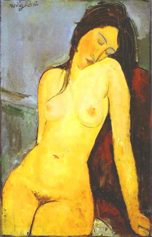 모딜리아니의 앉아 있는 나부(裸婦)