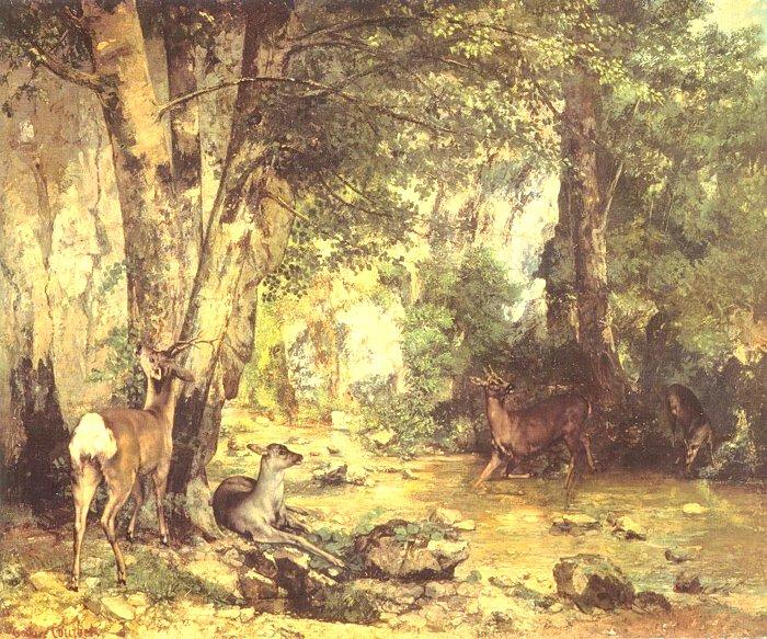 쿠르베-사슴의 은신처